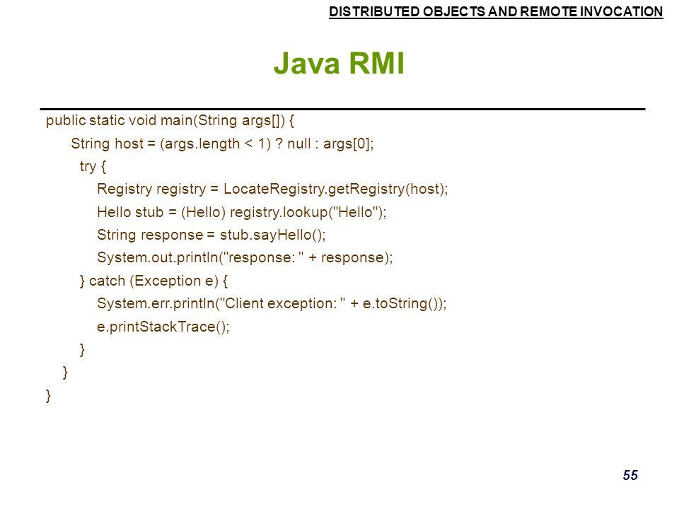 Java RMI public static void main(String args[]) {